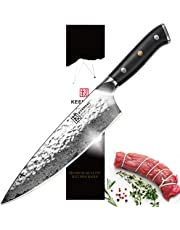 KEEMAKE Chef Knives, AUS10 67 Layers Damascus Steel/German 1.4116 Gyutou High Carbon Stainless Steel Kitchen Knives (8 Inch / 6.5 Inch /8.5 Inch)