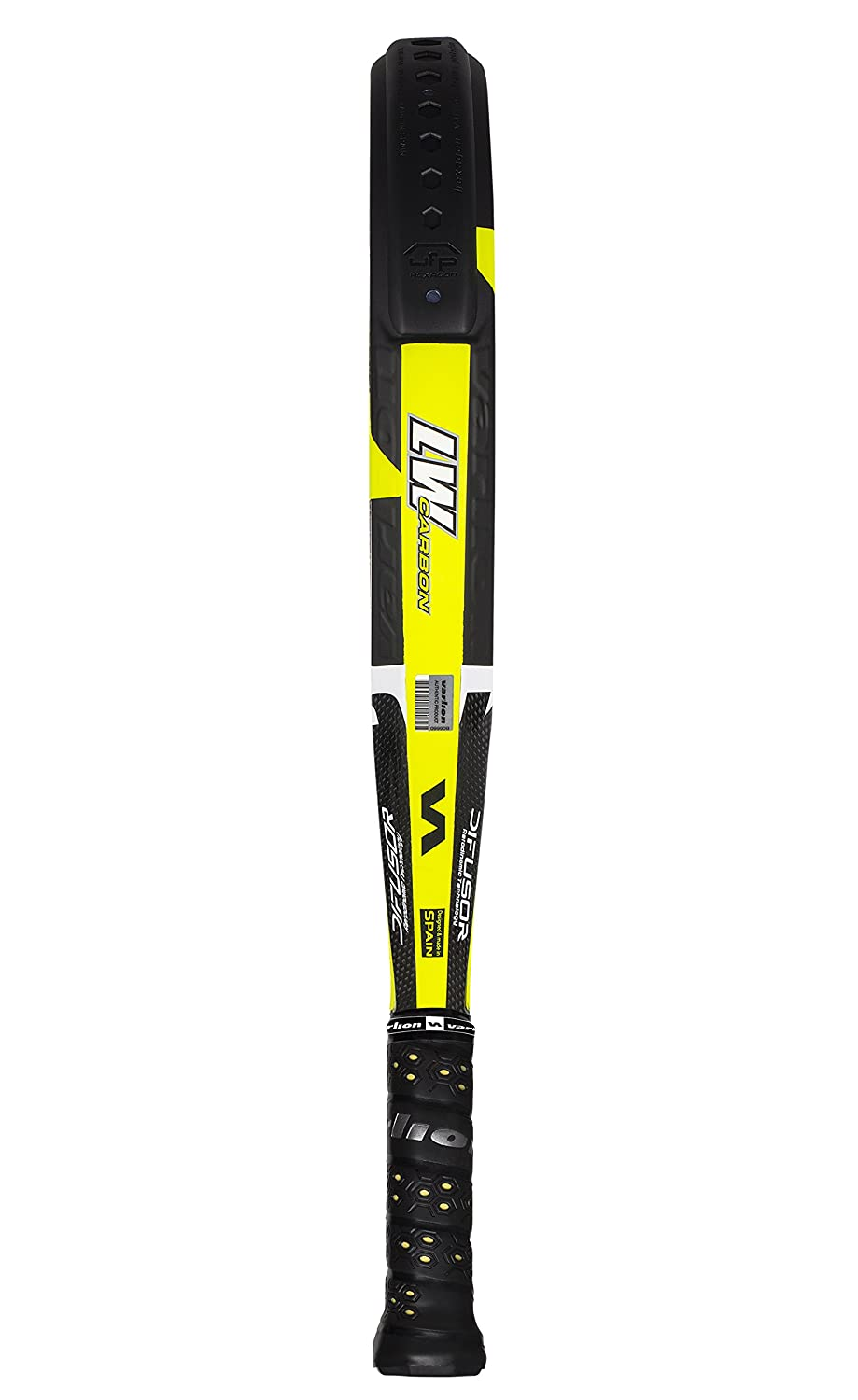 VARLION L.W. Carbon Hexagon Difusor - Pala de pádel Unisex, Color Amarillo: Amazon.es: Deportes y aire libre