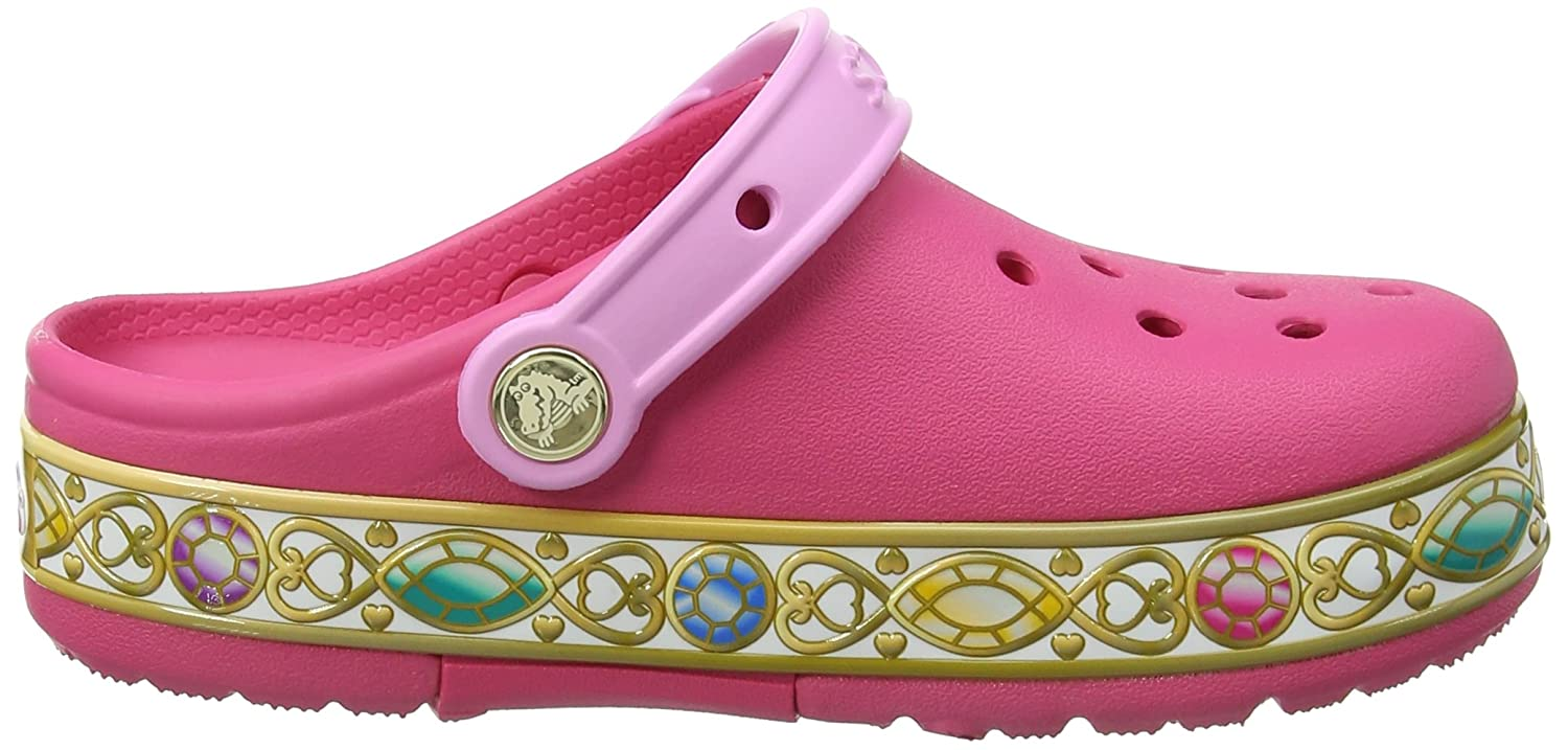 crocs Crocband Disney Princess Lights Clog Kids, Mädchen Clogs, Pink (Vibrant Pink), 29/30 EU