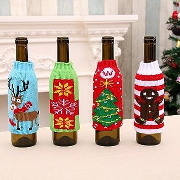 Artículos para el Hogar de Navidad de Alto Grado de Punto Botellas de Cerveza de Navidad Conjuntos de Botellas de Cerveza de Navidad Decorado Conjunto de ...