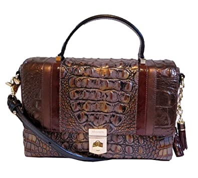682e23d311 Image Unavailable. Image not available for. Color  Brahmin Cosimo  Collection Danielle Tasseled Crocodile-Embossed Satchel