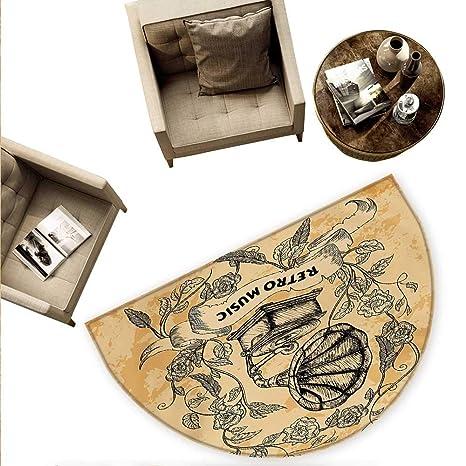 Amazon.com: Cojín semicircular vintage con diseño de casa de ...