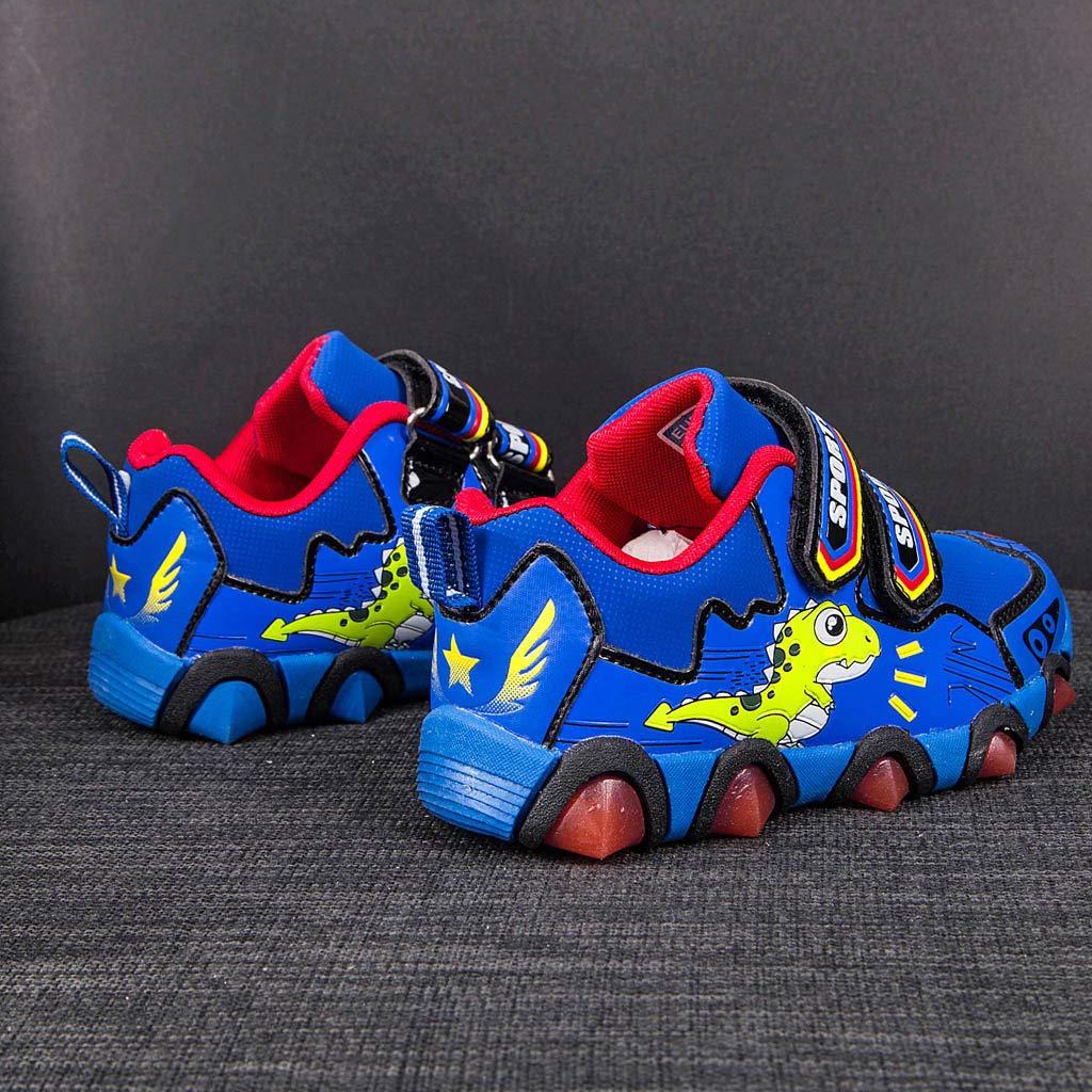 Randolly Toddler Shoes Baby Boys Girls Cartoon Dinosaur Paw LED Luminous Sport Shoes Sneakers