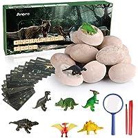 Anpro 12 Huevos de Dinosaurio,Kit de Excavación,Incluye 12 Figuras de Dinosaurios de Juguete, Regalo Infantil para…