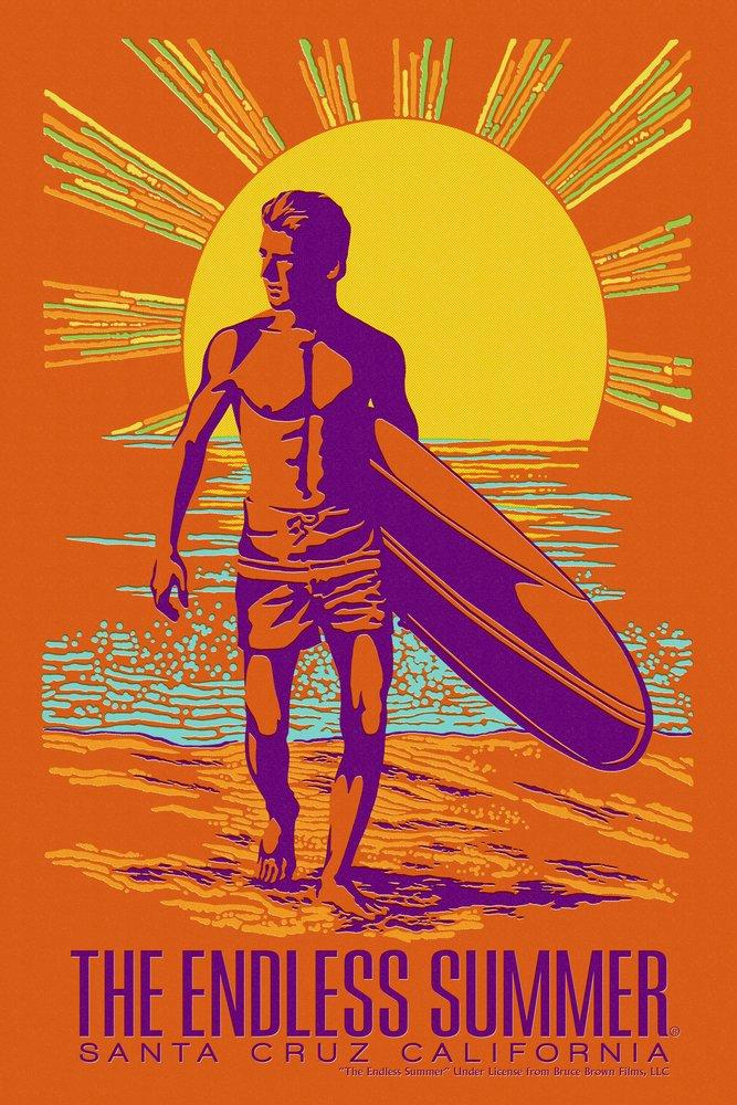 The Endless Summer – Psychedelic Surfer – Santa Cruz、カリフォルニア 36 x 54 Giclee Print LANT-49578-36x54 36 x 54 Giclee Print  B017E9YM4O