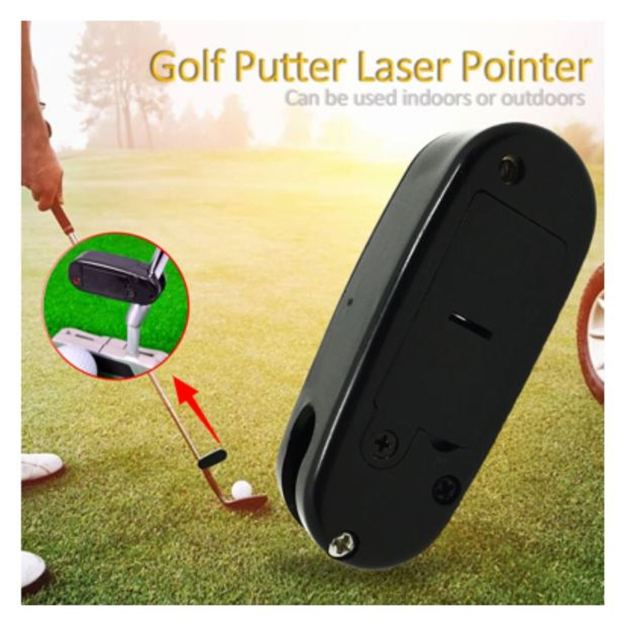 JuiciaTrendz Black Golf Putter Laser Pointer Putting Golf Practice Aim Line Corrector Improve Aid Training Tool Golf Accessories