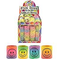 HENBRANDT 12 x Mini Smiley Springs - Party Bag Fillers