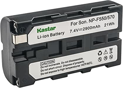 Kastar Charger and 2 Battery for Sony Handycam DCR-VX1000 NP-F570 CCD-TRV58 CCD-TRV615 CCD-TRV62 CCD-TRV66 CCD-TRV67 CCD-TRV68 Camcorders