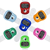 Electronic Finger Counter, 7-Pack Resettable 5 Digit LCD Electronic Digital Display Finger Hand Tally Counter Counting
