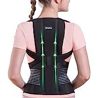 Omples Posture Corrector for Women and Men Back Brace Straightener Shoulder Upright Support Trainer for Body Correction…