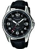 Casio Collection Reloj Analógico de Cuarzo para Hombre con Correa de Correa De Cuero Auténtico – MTP-1372L-1BVEF