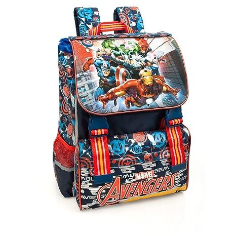 52c2d6ff7f Marvel Avengers 61212 Zaino da Scuola, Estensibile, Poliestere,  Multicolore, Captain America Thor