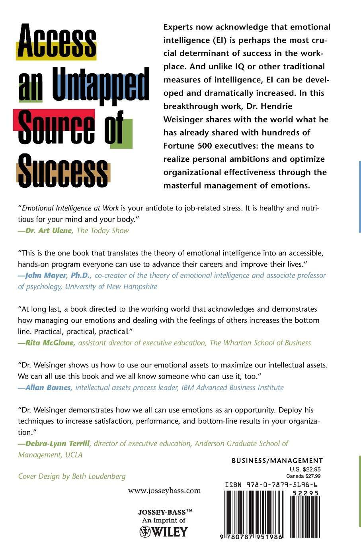 Emotional Intelligence at Work: Hendrie Weisinger