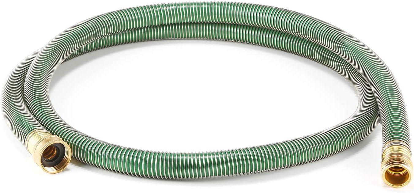 GREEN MOUNT 6 Feet Garden Leader Hose,Anti-Kink Design,PVC Material with Coil Spring Hose