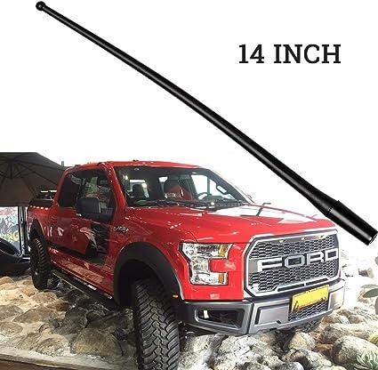 "/'99-/'16 Ford F550 Super Duty 13/"" SHORT Custom Flexible Rubber Antenna Mast FITS"
