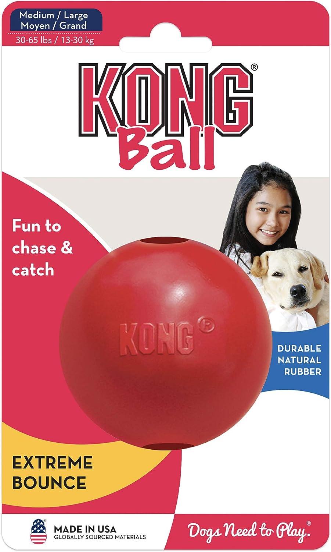KONG - Ball with Hole - Juguete para buscar de caucho resistente ...