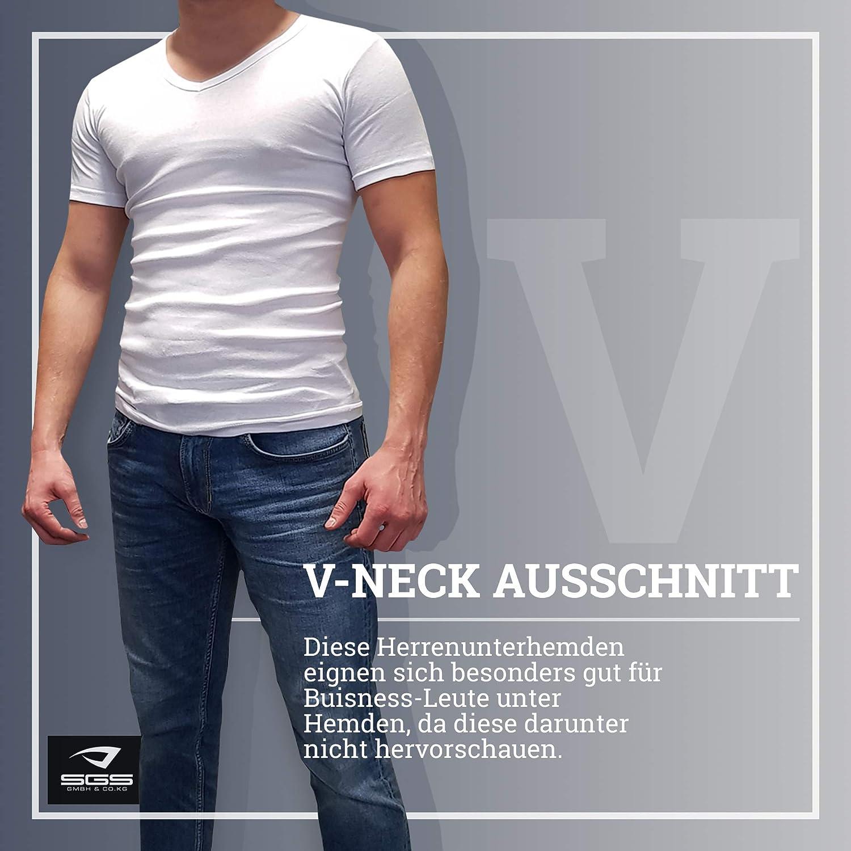 f1c52cac59e160 ... SGS 4 Unterhemd T-Shirt Herren V-Ausschnitt Unterziehshirt Hemd ...