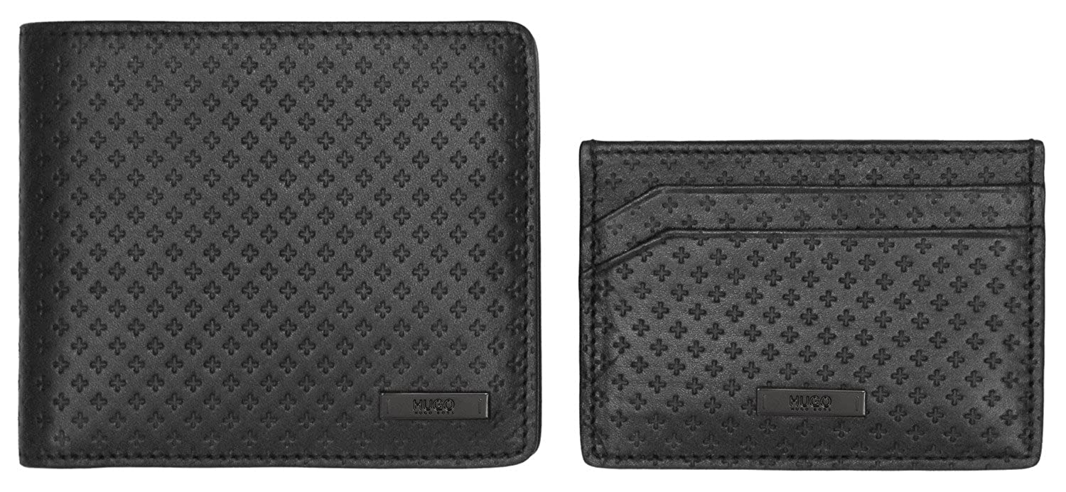 Hugo Boss Gift Set Wallet   Card Holder in Black  Amazon.ca  Shoes    Handbags edfd6344e7