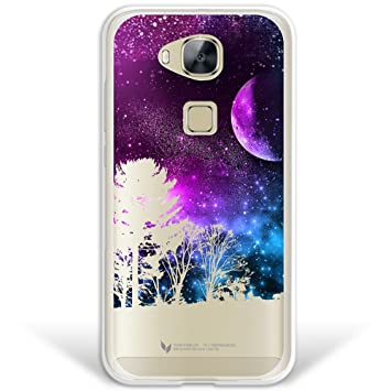 WoowCase Funda Huawei GX8 / G8, [Hybrid] Universo Y Arboles Case Carcasa [Huawei GX8 / G8] Rígida Fabricada en Policarbonato y Bordes de TPU Silicona ...
