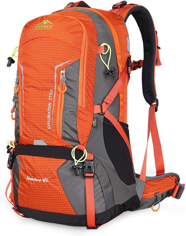 ハイキングバッグ 屋外登山バッグ大容量バックパック男性と女性旅行バックパックキャンプ45 Lキャンプバックパック ハイキングバックパック (Color : A, Size : 45L-35*23*56) A 45L-35*23*56