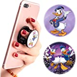 (3 Pack) Multifunction Disney Cell Phone Stand Finger Holder and Grip Daisy Duck and Donald Duck Pink Purple,Foldable Phone K