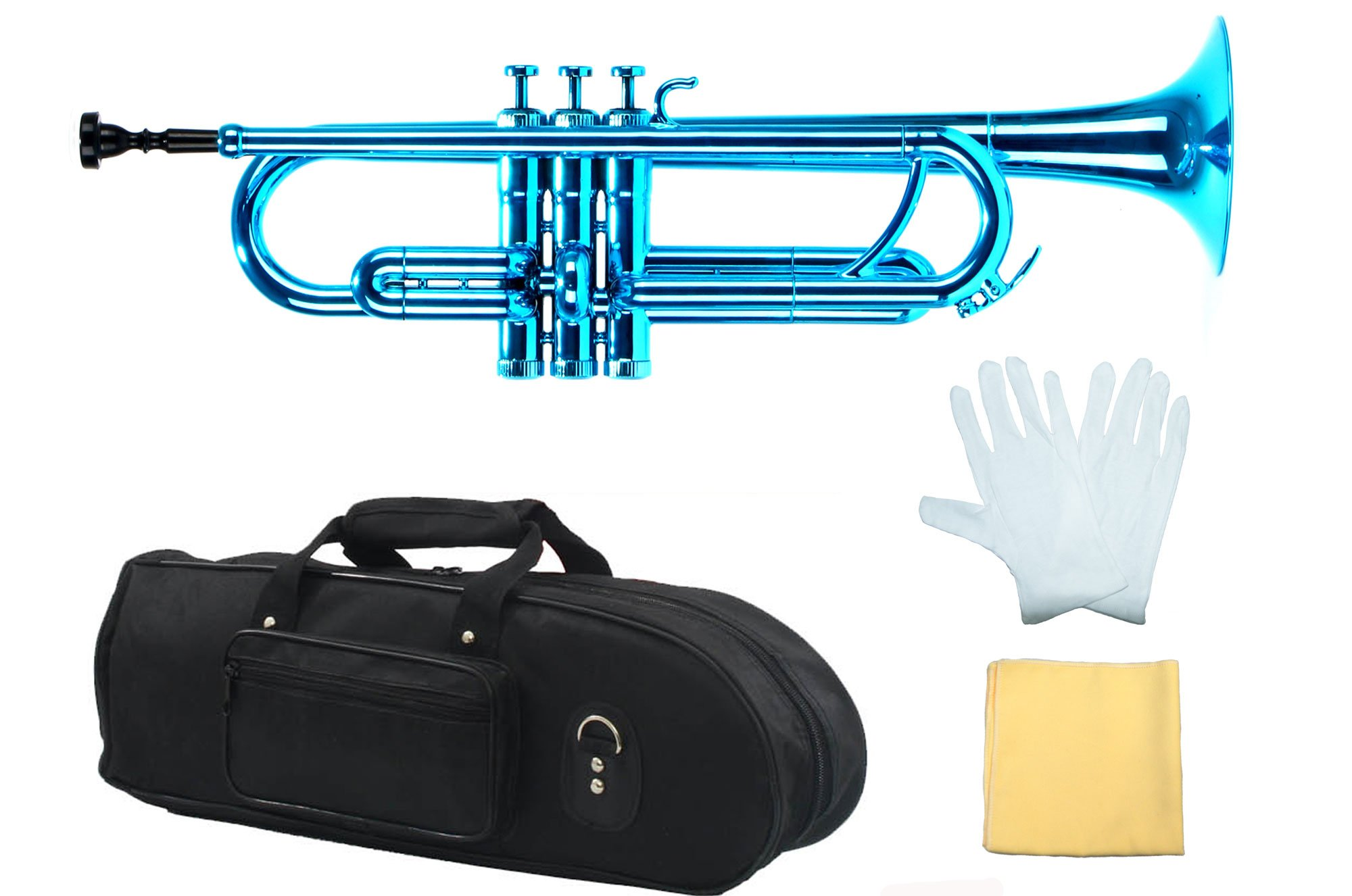Estella PTR200MBL Bb Plastic Trumpet, Metallic Blue