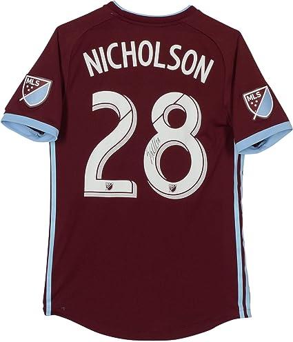 e04c40070 Sam Nicholson Colorado Rapids Autographed Match-Used Maroon  28 ...