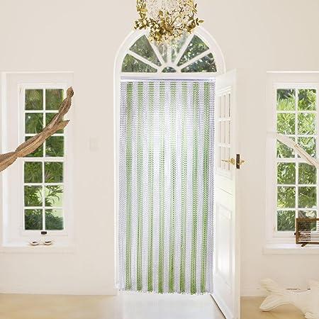 Chain Strip Door Curtain Hug Flight® Green Silver Aluminium Metal Fly Pest  Screen Control 90cm