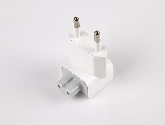 Batterytec 2 Pin Conector de Sector Conector UE para iPhone iPod iPad Mac Cargador Adaptador: Amazon.es: Informática