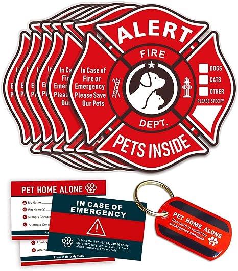 Amazon.com: Pegatinas de alerta para mascotas, pegatinas ...