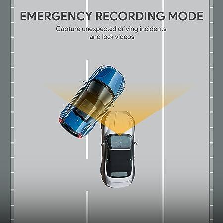 AUKEY Cámara de Coche Full HD 1080P Dash Cam Supercondensador y 170 Grados Gran Ángulo Dashcam con WDR , Detector de Movimiento, G-Sensor, Loop de ...