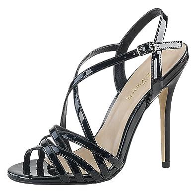 Riemchen Sandaletten Damen Schwarz (schwarz) Kaufen Online-Shop