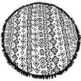 Honeystore Boho Sarong Wrap Cover Up Tassel Round Gypsy Beach Towel Mat Tapestry