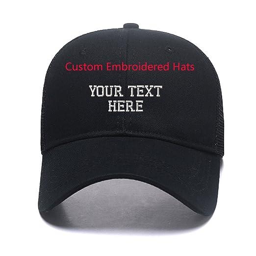 ab9a838e468 Personalized Gorras Custom Womens High Ponytail Mesh Trucker Hats Snapback  Messy Buns Embroidered Baseball Caps Black
