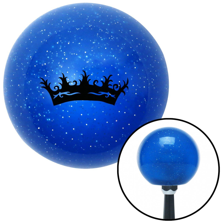 American Shifter 23780 Blue Metal Flake Shift Knob Black Princess Crown