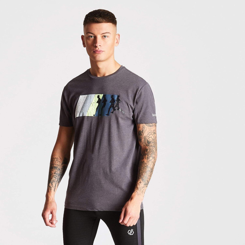 T-Shirt Uomo Dare 2B Dynamism Cotton Ribbed Collar Graphic Print