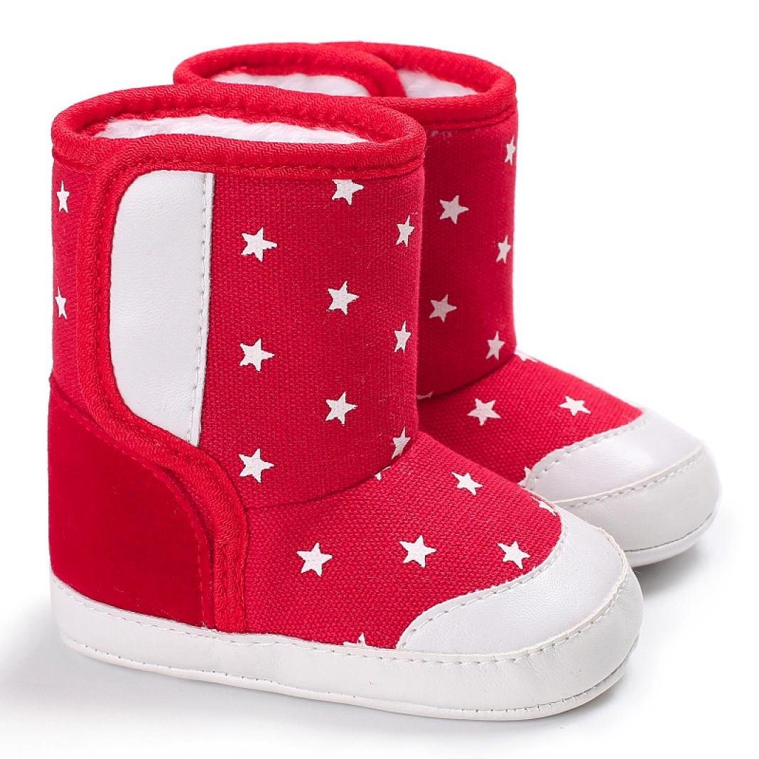 Winter Star Warm Infant Newborn Snow Boots Crib Shoes Prewalker Boy Girl Womail Baby Boots