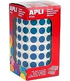APLI Kids - Rollo de gomets redondos 10,5 mm, color azul