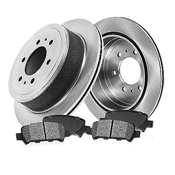 Rear 2001 02 03 04 2005 Acura EL Rotors w//Ceramic Pads OE Brakes