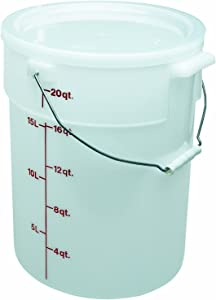 CAMBRO PWB22 Round Storage Container - Pail with Bail 22 Quart