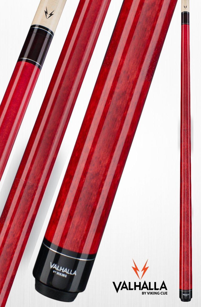 Viking Valhalla by 2 Piece Pool Cue Stick VA104 (19oz, Red)