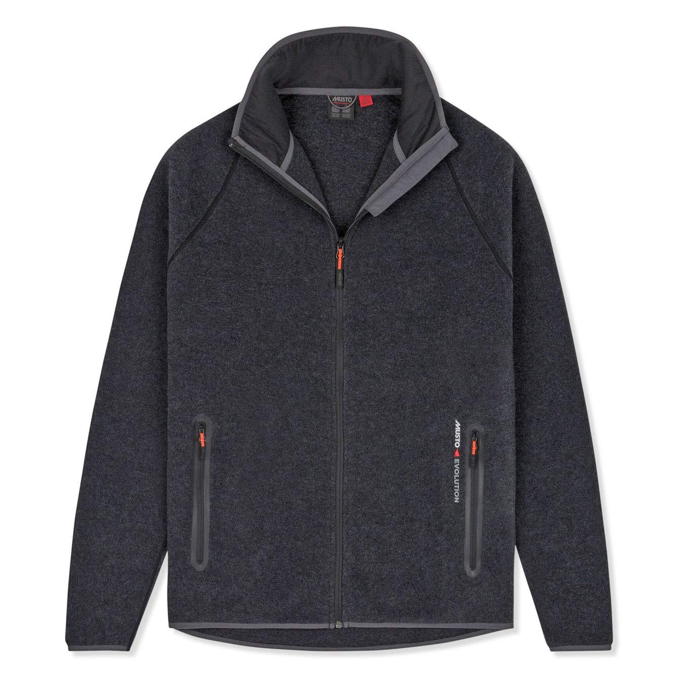 M Musto Mens Essential Polartec Warm Fleece Coat Jacket CharcoalTwo hand pockets