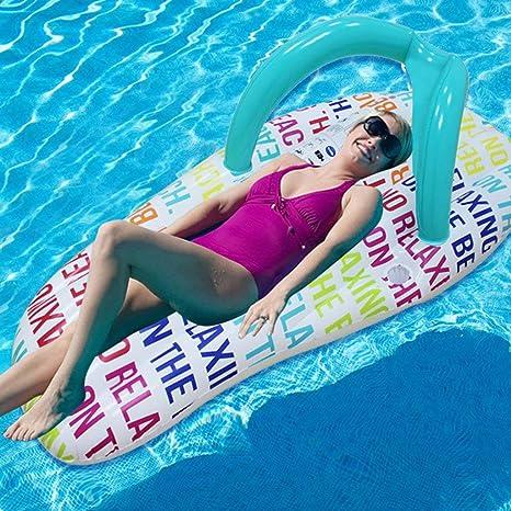 DOSNVG Zapatilla Flotante para Playa, colchón de Agua Inflable ...