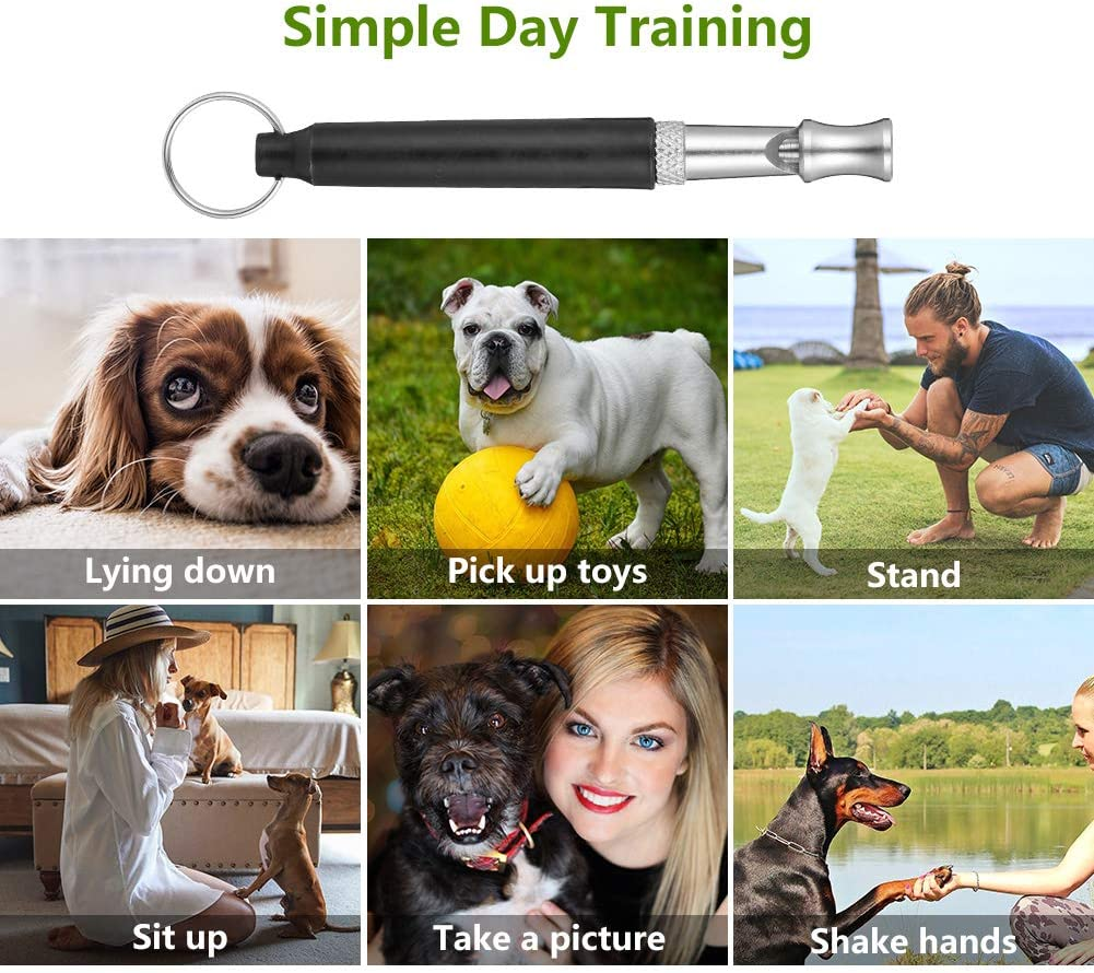 SUSSURRO 3 St/ücke Hundepfeife Ultraschall Profi hundepfeife Trainingpfeife Hund Einstellbares Effektives Hundetraining Schwarz