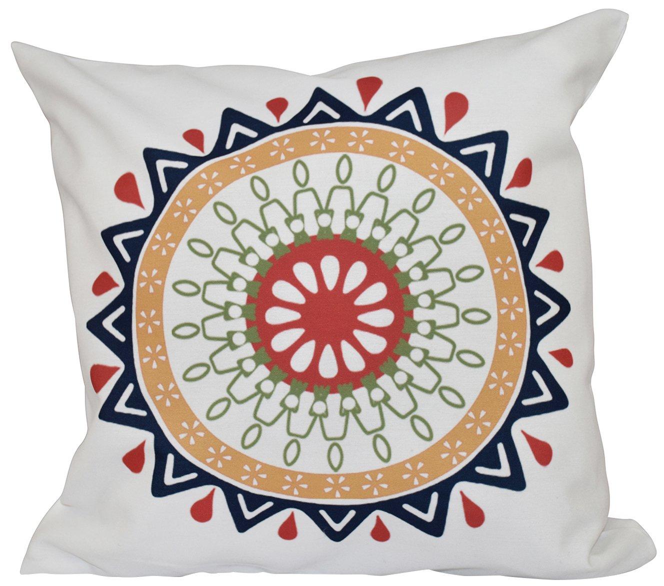 Kess InHouse Amanda Lane Gray Moroccan Grey White Round Floor Pillow 26