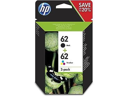 HP 62 - Cartuchos de Tinta Combinados, Negro y Tricolor, Paquete ...