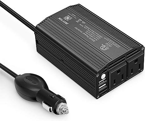 300W Car Power Inverter DC 12V To 110V AC Car Inverter with 2.1A USB Car Adapter