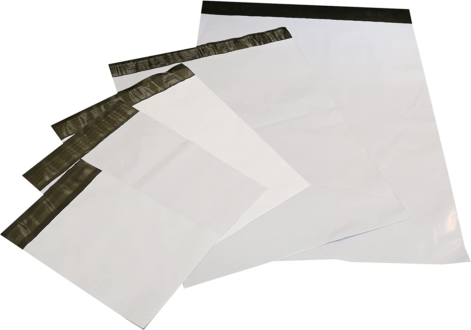 100 Pack 7.5x10.5 White Poly Mailers Shipping Envelopes