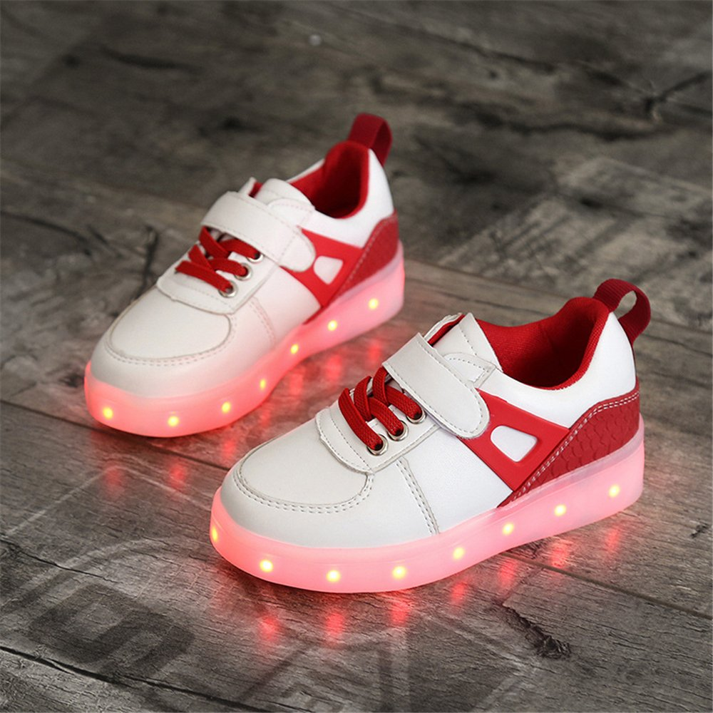 A2kmsmss5a Kids Light up Shoes 7 Colors USB Charging Flashing Sneakers for Boys and Girls LED Shoes