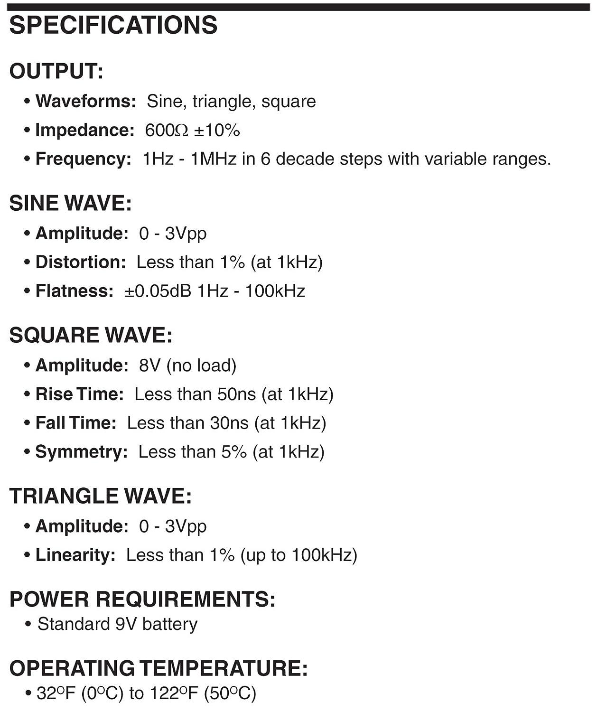 Elenco Fg500 100khz Function Generator Home Improvement Triangular Wave